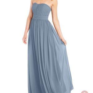 Dusty Blue Azazie bridesmaid dress